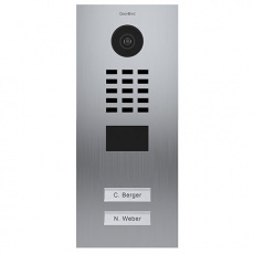 DoorBird IP Video Türstation D2102V, Unterputz, 2 Ruftasten