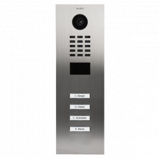 DoorBird IP Video Türstation D2104V, Unterputz, 4 Ruftasten